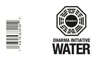 LOST Water Label