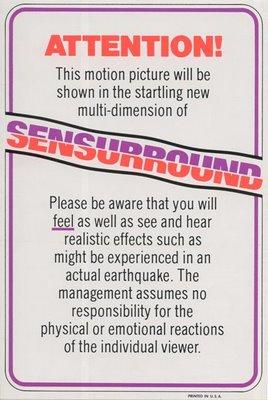 Earthquake Sensurround