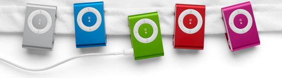 New iPod Shuffle colors
