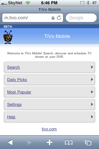 TiVo on the iPhone