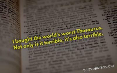 Thesaurus, Thesaurus